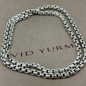 "David Yurman Mens Box Chain 5.2mm 22"" long"